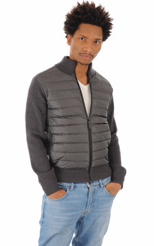Gilet en tricot HyBridge iron grey