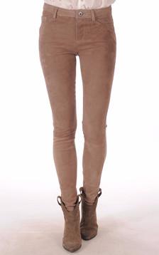 Pantalon velours beige1