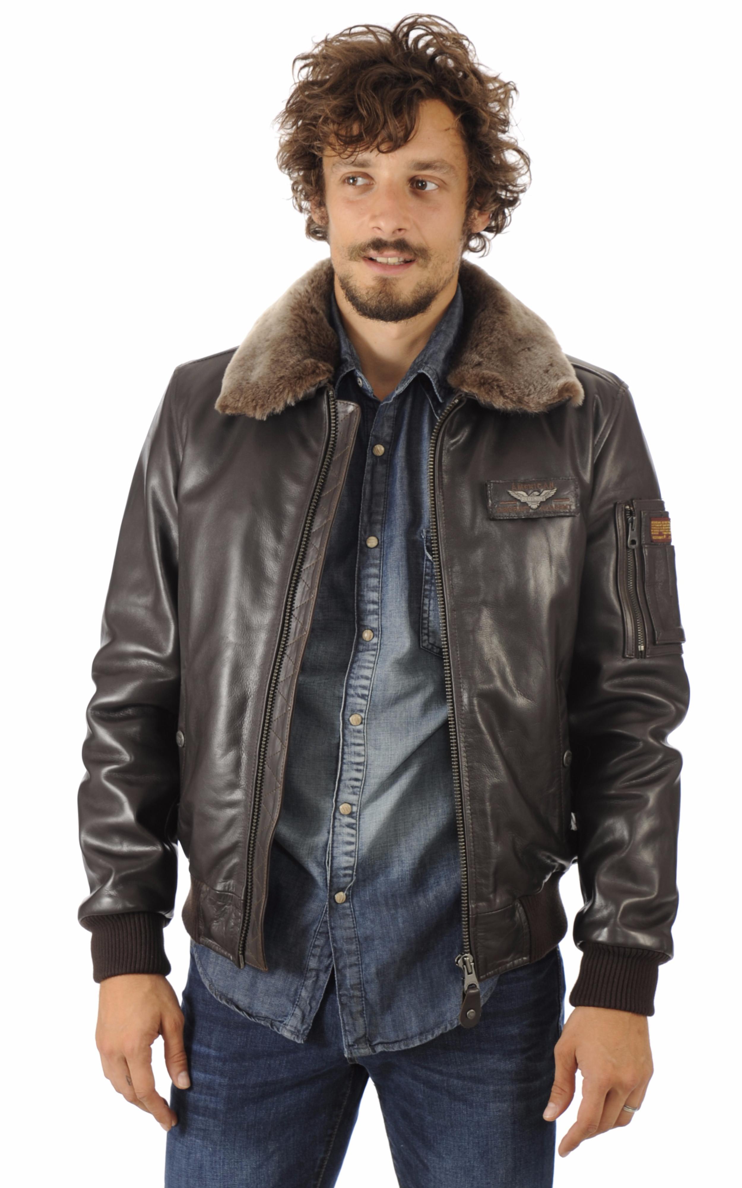 blouson texaco cuir aviateur marron redskins la canadienne blouson cuir marron. Black Bedroom Furniture Sets. Home Design Ideas