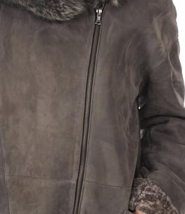 Manteau Mérinos gris foncé Peau d'Âne