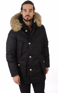 Parka Laminated Cotton Noir