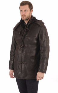 Duffle coat en Mouton patiné Marron