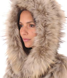 Gilet Fourrure Raccoon et Laine réversible La Canadienne