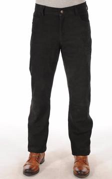 Pantalon Cuir de Buffle Nubuck Noir Homme1