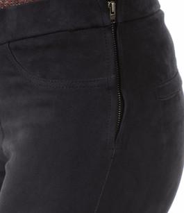 Pantalon Cuir Velours Stretch Bleu La Canadienne