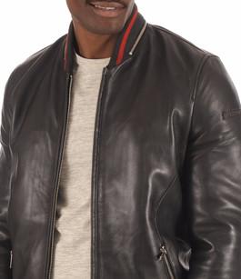 Teddy Cuir noir Homme Redskins