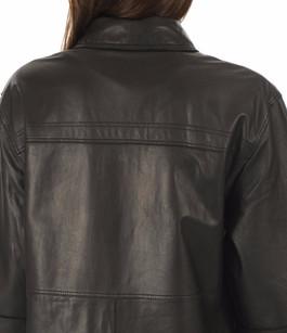 Robe en cuir Rapsody noire Oakwood