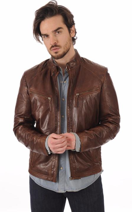 Blouson et veste cuir homme Schott Redskins Serge Pariente Oakwood ... d034a940fa3
