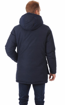Parka Bleue Marine Pour Homme