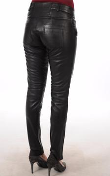 Pantalon Cuir noir Femme