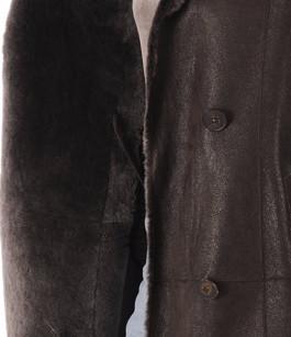 Veste peau lainée marron foncé La Canadienne