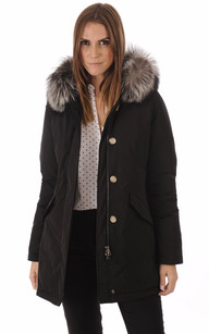 Parka Luxury Artic Fox Black1