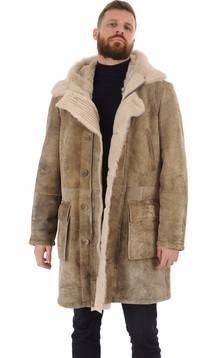 Manteau peau lainée esprit vintage1