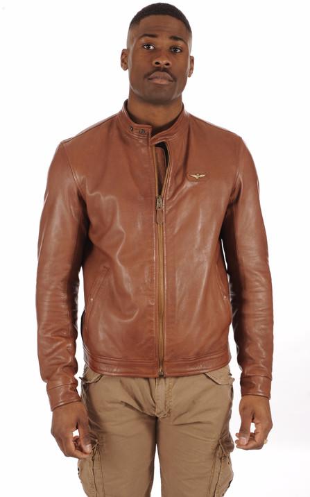 4233accd733 Blouson et veste cuir homme Schott Redskins Serge Pariente Oakwood ...
