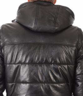 doudoune cuir lc6401 homme schott la canadienne doudoune parka cuir noir. Black Bedroom Furniture Sets. Home Design Ideas