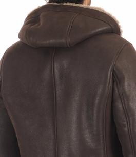 Manteau mouton marron foncé La Canadienne