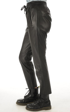 Oakwood - Pantalon Jogpant Cuir Noir
