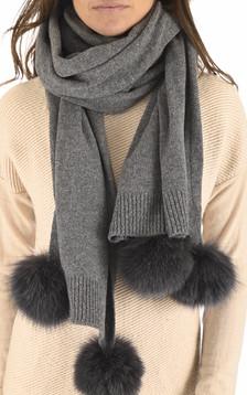 Etole en laine et cachemire anthracite