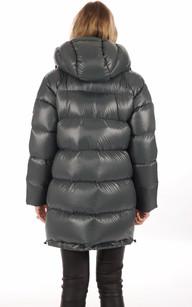 Doudoune Oversize Verte Textile Femme