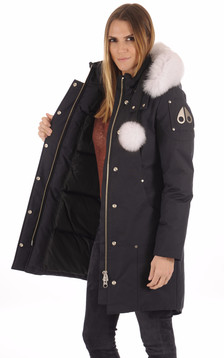 Parka longue Stirling Navy-White
