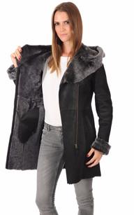 Manteau long femme mouton