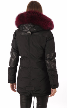 Parka Melrose Black Hot-Pink