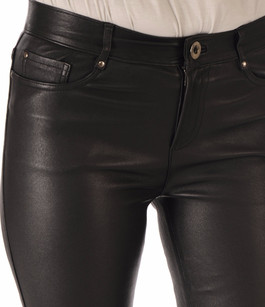 Pantalon Cuir Stretch Noir Serge Pariente