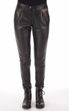 Pantalon Chino Femme Noir1