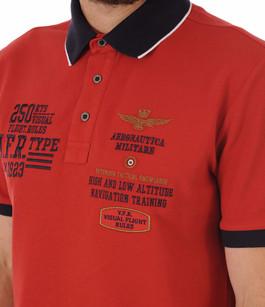 Polo Rouge Patch Aero Aeronautica Militare