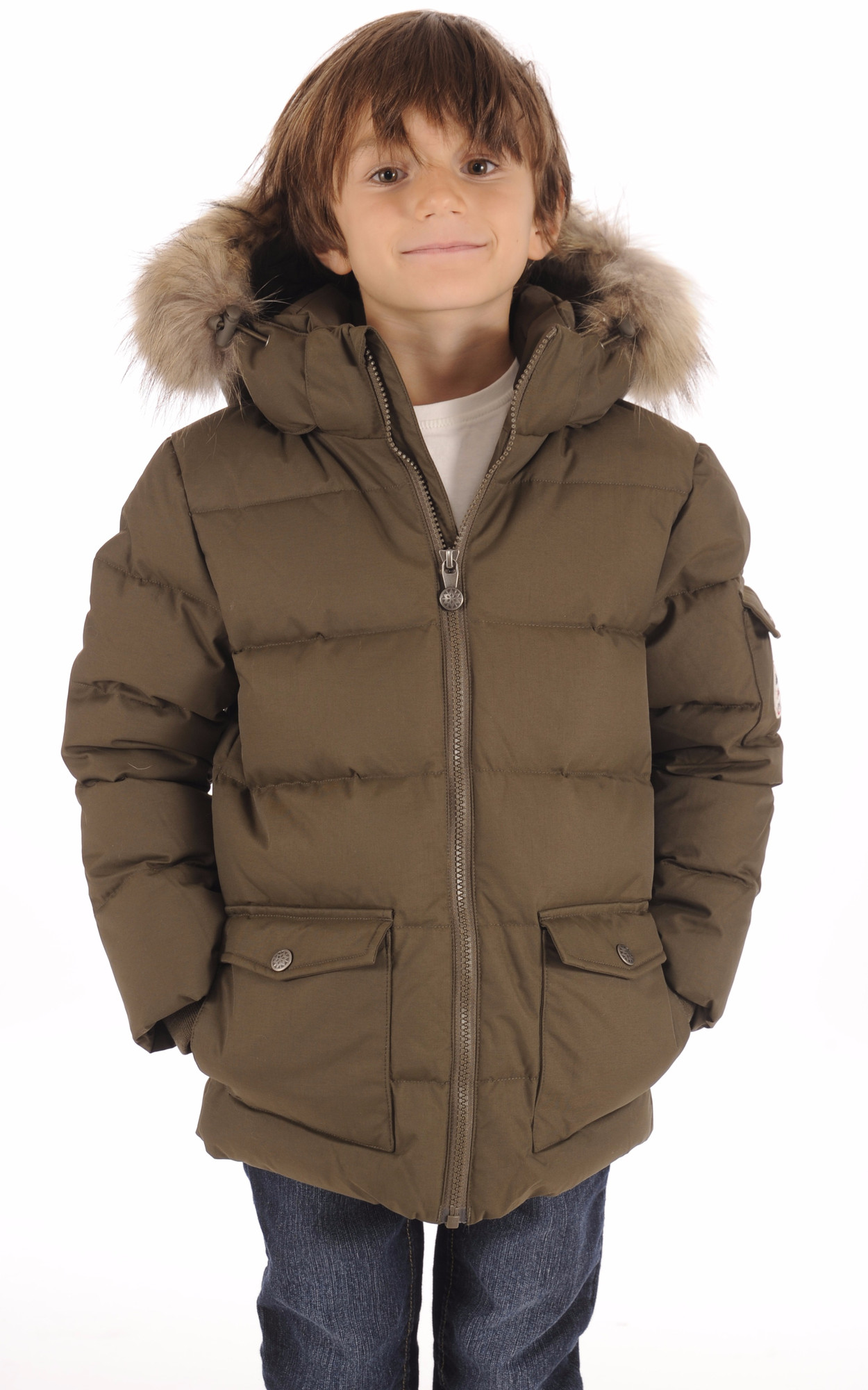 Doudoune Authentic Jacket Boy Kaki