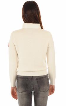Blouson Hybridge Knit blanc