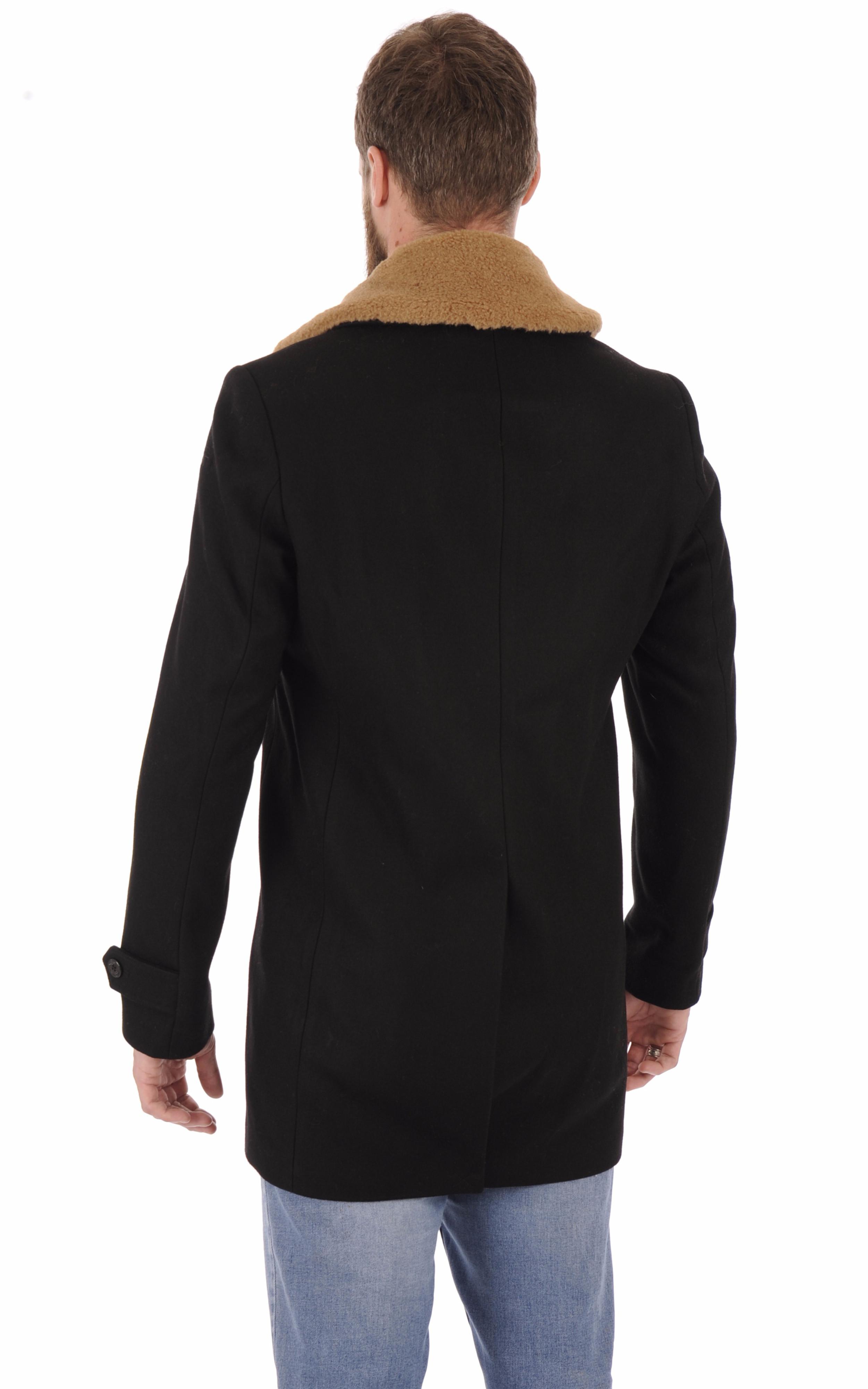 Manteau laine Maverick noir Schott