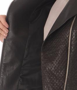 Blouson en cuir Stretch Noir Giorgio