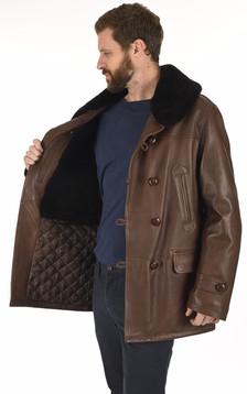 Canadienne cuir d'agneau marron