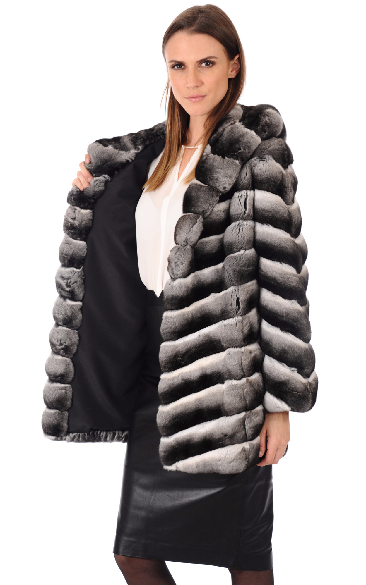 Veste Italienne Fourrure Chinchilla