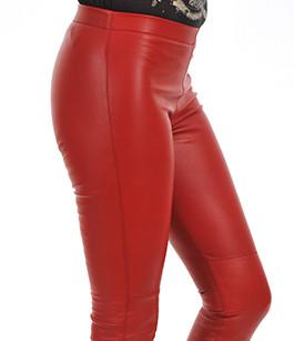 legging cuir stretch rouge oakwood la canadienne pantalon short cuir rouge. Black Bedroom Furniture Sets. Home Design Ideas