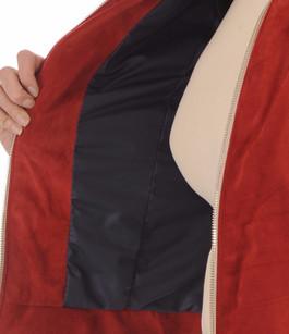 Blouson Cuir Velours Rouge 90's Flo&Clo