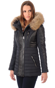 Manteau femme pied de poule noir et blanc