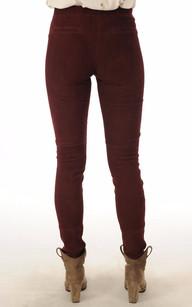 Pantalon Cuir Stretch Bordeaux