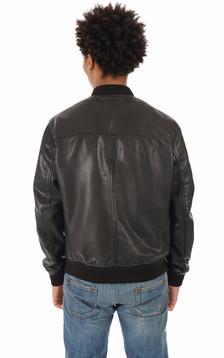 Blouson Bayling cuir noir