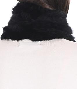 Echarpe lapin noir La Canadienne