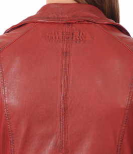 Blouson Perf cuir rouge Oakwood