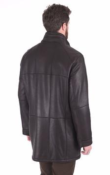 Manteau confortable peau lainée marron