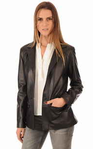 Blazer Cuir Femme Coupe Confort1