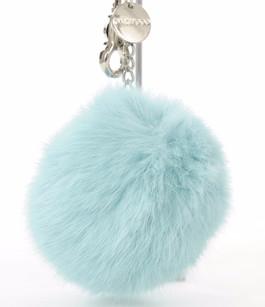 Porte Clef Fourrure Bleu Ciel Oakwood