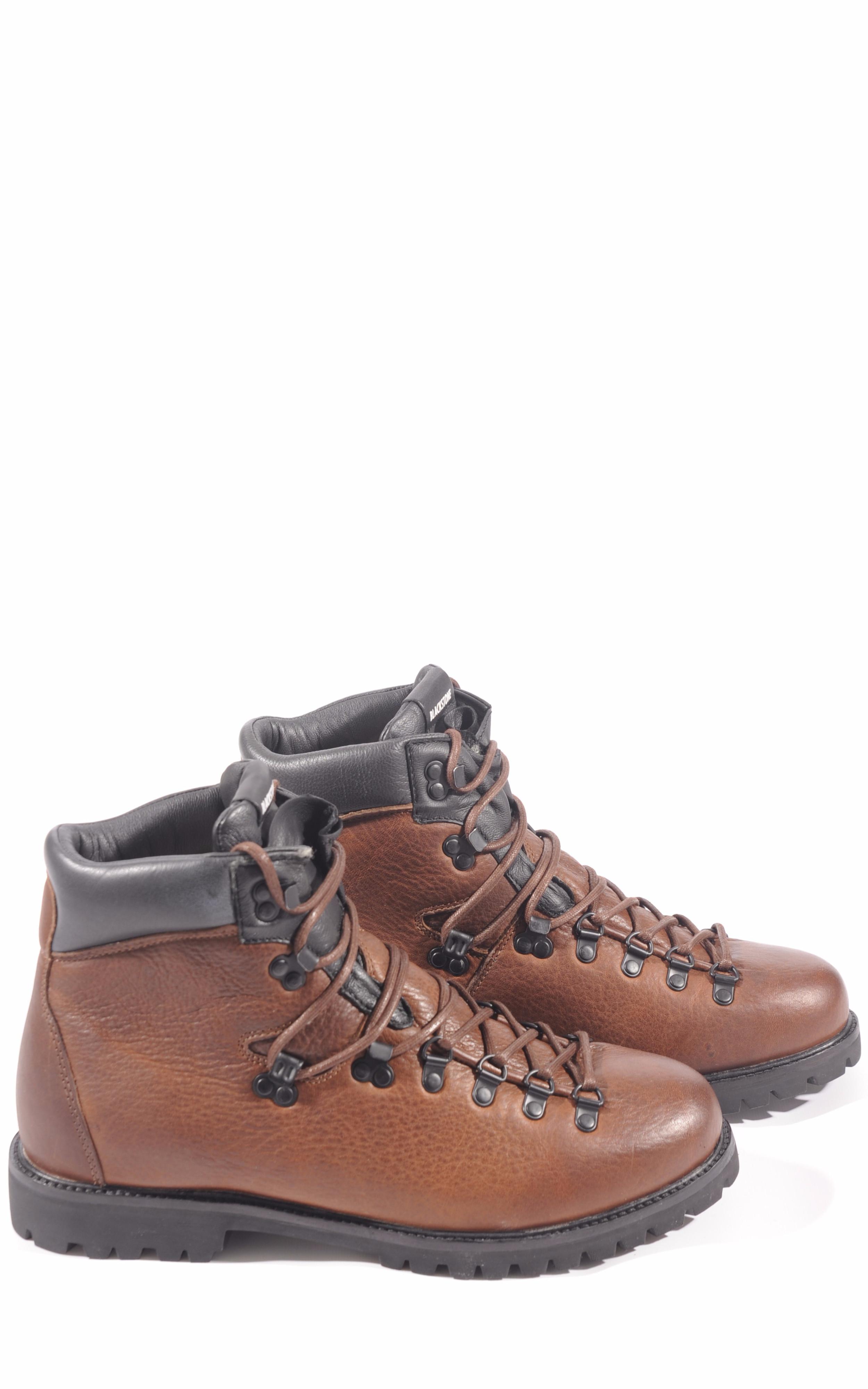 Boots cuir fourées mouton marron Blackstone