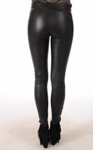 Legging Cuir Agneau Noir Mackage