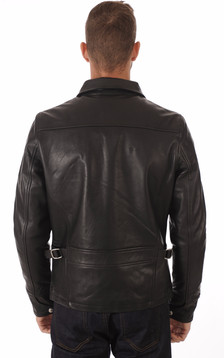 Blouson LC952 Cuir Vachette Noir