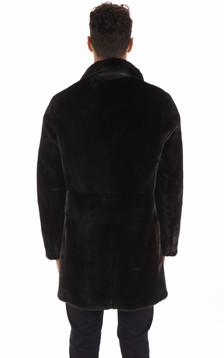 Manteau en Vison Finlandais Noir Homme