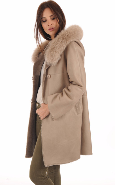 Manteau Mérinos Velours Sable La Canadienne
